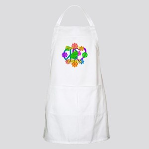 Peace Love Frogs Apron